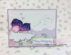 "Loving this cute card made by dt member Sara using the new exclusive club digi ""Butterfly Dreams"" # #butterflies #cardmaking #handmadecard #etsy #purple #papercraft #scrapbooking #coloring #coloringforadults #fun #creative #thedailymarker30day #2cuteink #2cuteinkdigitalstamps #2cuteinkdigitalstampsclub"