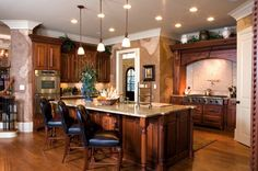 Old World Tuscan Decor   , Old World Plaster Walls with Exposed Brick in Tuscan Kitchen, Old ...