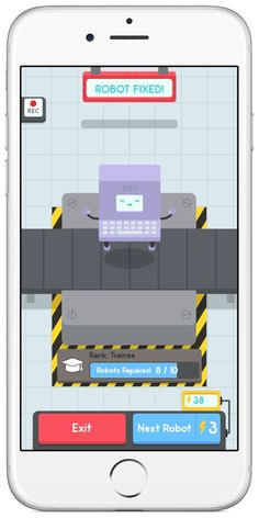 a strategy centered puzzle game for kids, Drag your fingers across the screen and rewire the numbers to fix each little robot. Free Educational Apps, Puzzle Games For Kids, Autism, Robot, Free Apps, Lab, Numbers, Wire, Touch