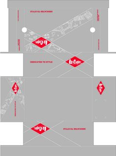 Printable Lee Cooper Shoe Box.  Resize as necessary to print as a miniature.  (Box & Hanging Tag Design by Kevin S at Coroflot.com)