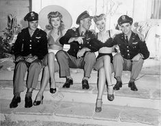 WWII USO dance. Love the hair, the shoes and the swimsuits!!