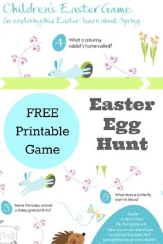 Easter egg hunt clues printables - We used an Easter egg hunt map with clues, and 10 Spring themed questions and answers. The full pack is available to download as a printable pdf at the end of the post if you would like to use it with your kids.