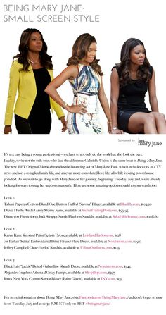 I WILL ALWAYS AND FOREVER LOVE THAT MIDDLE DRESS! Being Mary Jane: Small Screen Style! http://icydk.com/2013/07/02/being-mary-jane-small-screen-style/
