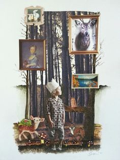 Enchanted forest collage for the collage club on facebook