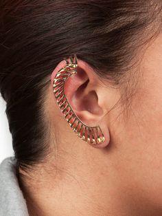Gold Scale Ear Cuff.
