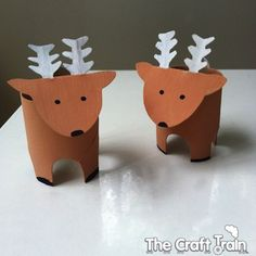 Cardboard Tube Reindeer Craft - The Crafty Crow