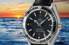 """Towards Brighter Shores!"" #Omega 42mm Seamaster Planet Ocean Rubber Strap Ref#: 2901.51.82 ($3,725.00 USD) http://www.elementintime.com/Omega-Seamaster-Planet-Ocean-2901.51.82-Stainless-Steel-Black-Dial"
