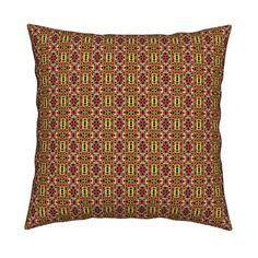 Catalan Throw Pillow featuring TUTTI FRUTTI SUMMER Small Scale Geometric  by paysmage | Roostery Home Decor
