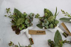 Nicolette Camille Floral Design: Great boutonnieres and small corsages instead of big chinky flowers, love love love this look!