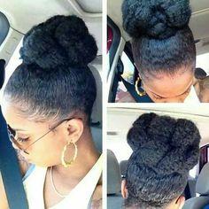 High Bun with Marley hair