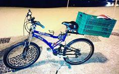 Toda charmosa com manutenção em ordem #bicicleta #bicicletando_fotos #frete #carga #rodada #manutençao #montana #caloi