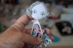 Girl and Horse Art Doll Brooch mixed media collage by miopupazzo