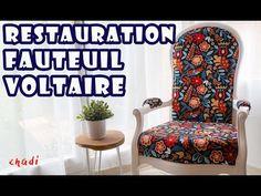 le fauteuil VOLTAIRE restauration du siège en traditionnel - YouTube