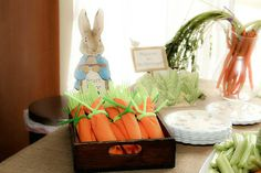 Peter Rabbit themed party.