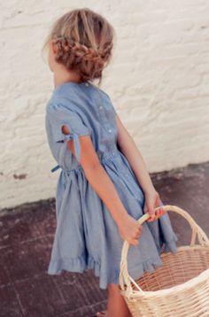 5b466e7fc88e Kids Tocoto Vintage Denim Dress on. Chambray DressBaby KindLittle Girl ...