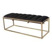 Bench Furniture, Coaster Furniture, Furniture Deals, Upholstered Bench Seat, Bench Cushions, Grey And Gold, Dark Grey, Gold Coasters, Accent Bench