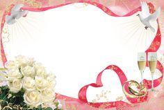 frame png   Frames PNG com fundo transparente para fotos de casamento.