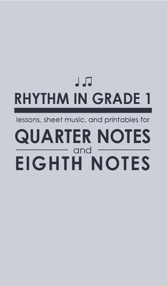 The complete guide to teaching quarter notes and eighth notes! Click through for the FREE teaching resources.
