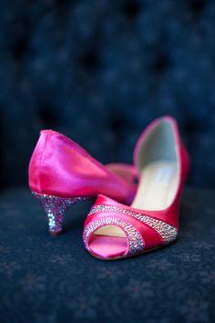 Pink Bridal Shoes   Valen Photo Design   Theknot.com