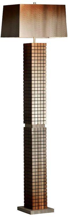 Bronze Grid Nova Floor Lamp - EuroStyleLighting.com