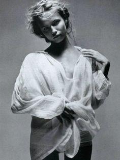 """Vogue Paris , """"Au Charme"""", Natasha Poly photographed by Patrick Demarchelier"""