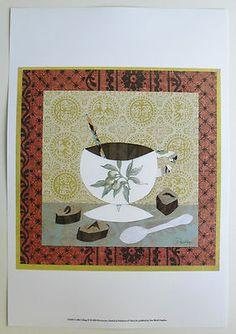 $20.99 Pattern Food & Drink Mug Art Print, Coffee Collage IV by Ramona Jan