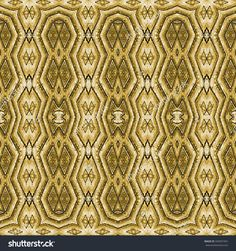 Digital photo manipulation technique ethnic or indian style geometric decorative seamless pattern artwork in golden tones.