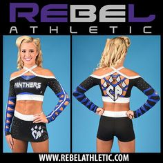"""""""A better view of CHEER ATHLETICS PANTHERS new uniforms by @RebelAthletic❗️Debuted for #MAJORS!"""""""