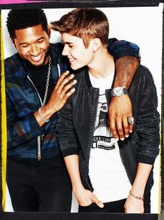 Usher & Justin Bieber by BenWatts