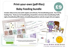 Baby Feeding Bundle. Materials for Childbirth Education