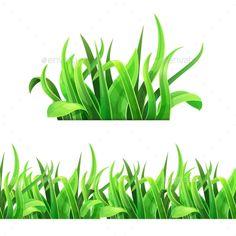 Green Grass Horizontal Seamless Vector