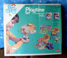 Remco Sweet April dolls and playset 1971