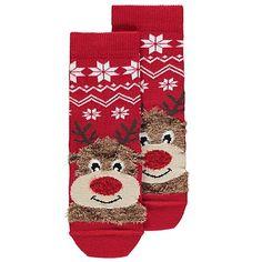 Christmas Rudolph Socks | Kids | George at ASDA