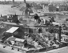 Stockholms digitala stadsmuseum — Slussens ombyggnad. 26/7-1932