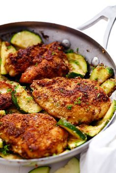 Crispy Parmesan Garlic Chicken with Zucchini is a fantastic one pan meal that the family will love! The chicken is so tender and breaded…