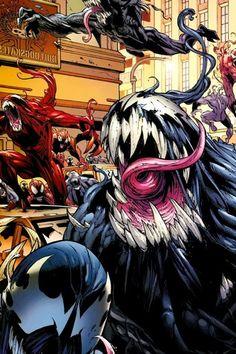 Venom è un personaggio dei fumetti della Marvel Comics ed è uno dei principali nemici dell'Uomo Ragno. Si tratta di un'entità formata da due esseri: uno umano e l'altro alieno (anche se il Venom vero e proprio sarebbe il simbionte, perché Eddie Brock è la forma base di Venom), e più che un vero supercriminale, è considerabile un antieroe, non completamente malvagio.