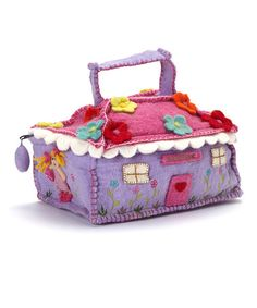 Take a look at this Purple & Pink Wool House Bag by Én Gry & Sif on #zulily today! $50 !!