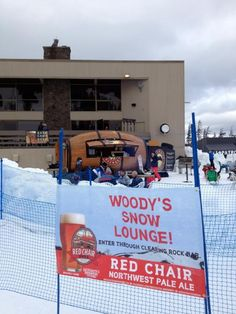 Woody's Snow Lounge. #DeschutesBrewery
