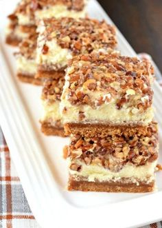 Superb Pecan Pie Cheesecake Bars. Daily simple recipes for everyone