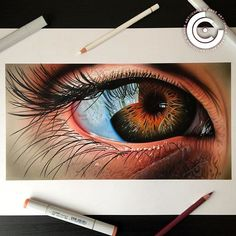 Human Eye. Copic Markers/Airbrush & Polychromos on Smooth Bristol. The original is still available if you are interested please DM me ✌️ Prints available on my website, follow the link in my profile bio. #art #artist #artwork #drawing #eye #eyedrawing #hyperrealism #realistic #realism #copicmarkers #copic #polychromos #fabercastell
