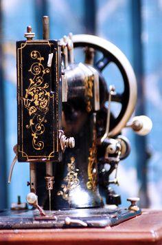 Antique German Sewing Machine