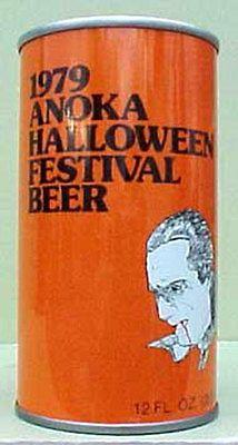 1979 ANOKA HALLOWEEN FESTIVAL BEER ss CAN, DRACULA Schell, New Ulm, MINNESOTA 1+