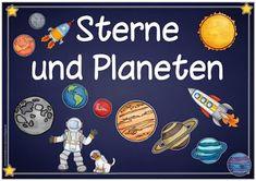 """Sachunterricht in der Grundschule: Themenplakat """"Sterne und Planeten"""""""