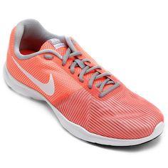 Tênis Nike Flex Bijoux - Cinza+Rosa