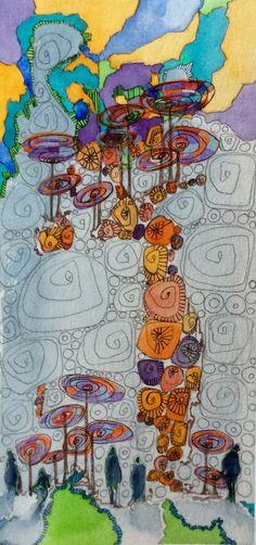 Arcanes. By N2L     #art #illustration #couleurs #nature