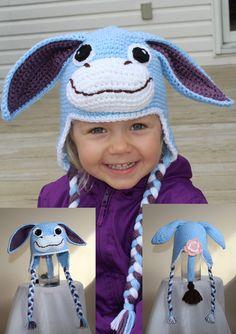 Dante the Donkey Animal Hats, The Donkey, Crochet For Kids, Infant, Crochet Hats, Children, Handmade, Character, Animals