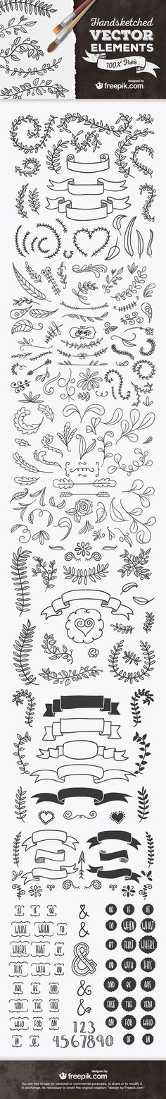 Handsketched Vector Elements by Freepik.com