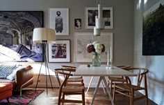 There is a spirit of art in this Stockholm apartment: paintings and photographs in frames occupy all walls in the living room, plenty of books in each ✌Pufikhomes - source of home inspiration Gravity Home, Decor, Interior Design, House Interior, Cheap Diy Decor, Home, Interior, Luxury Homes Interior, Home Decor