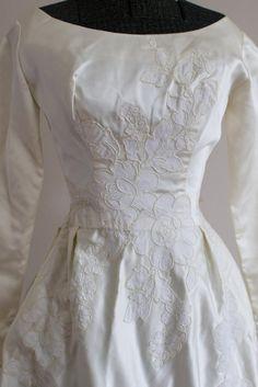 Wedding Gown Sizes, Sheath Wedding Gown, Wedding Gowns With Sleeves, Long Sleeve Wedding, 1960s Wedding Dresses, Vintage Bridal, Marie, Ball Gowns, Wedding Ideas