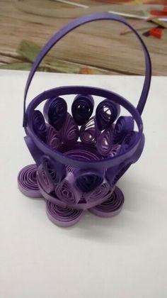 Violet flower vase...
